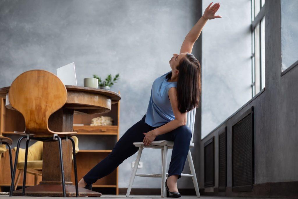 Sedia ergonomica da yoga
