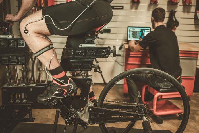 una sessione di bikefitting